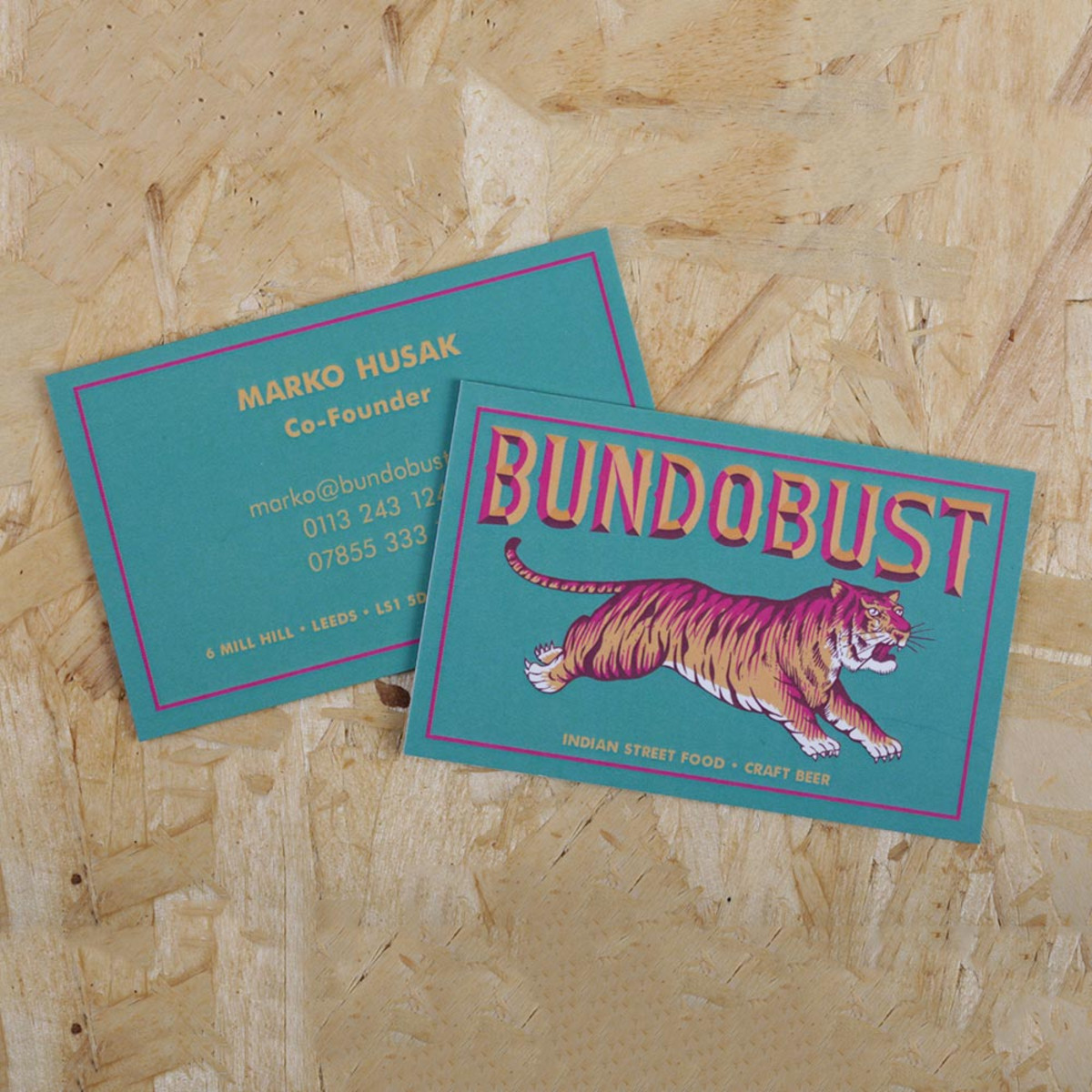 100 x Layered Business Cards for £35