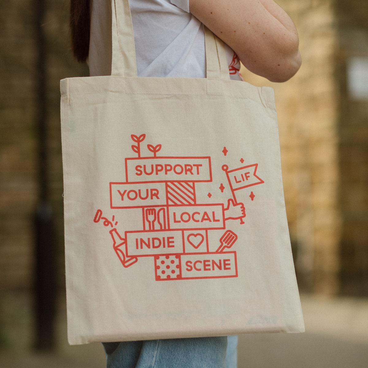 100 x Natural Screen Printed Tote Bag Deal