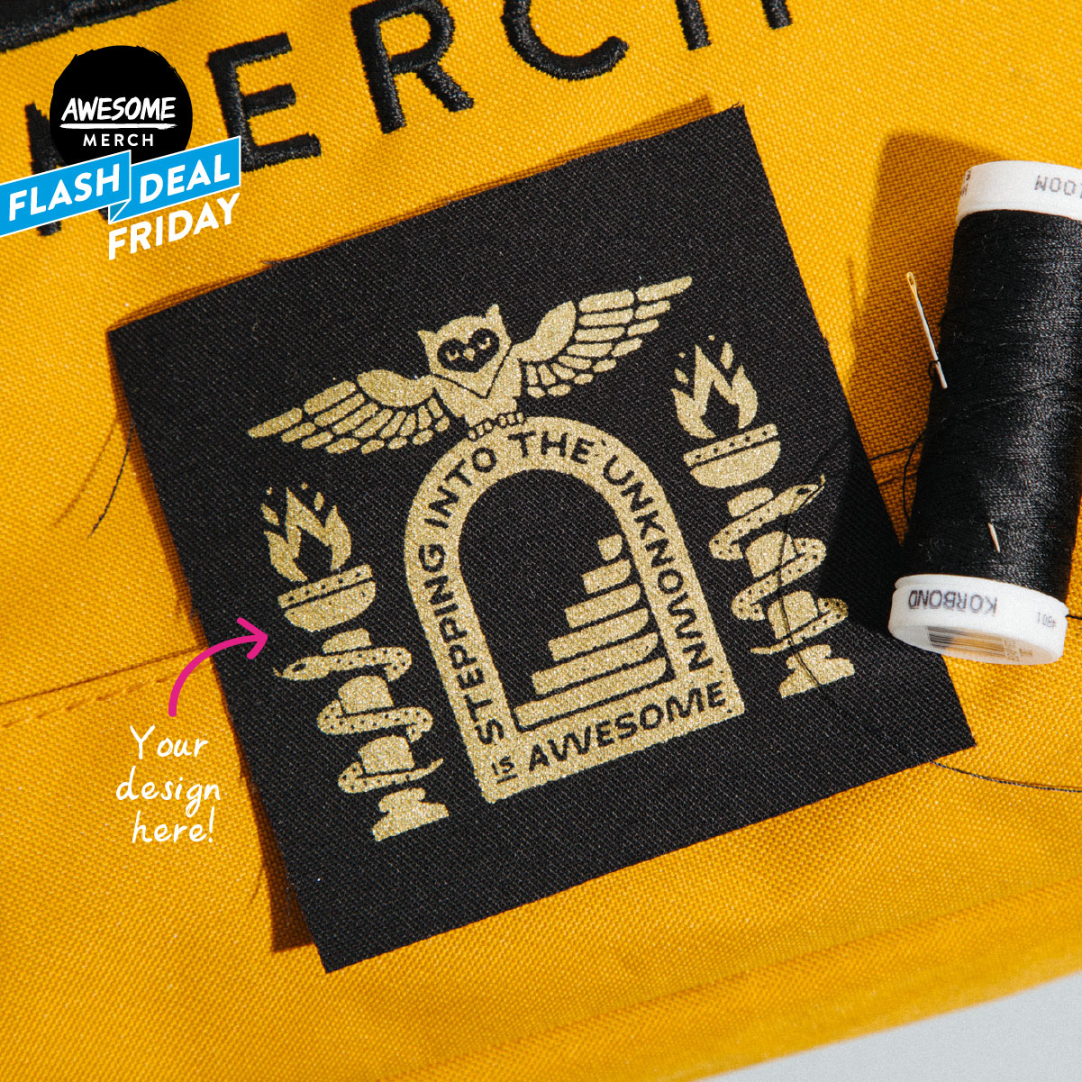 100 x Screen Printed Patches for £40 - Flash Deal