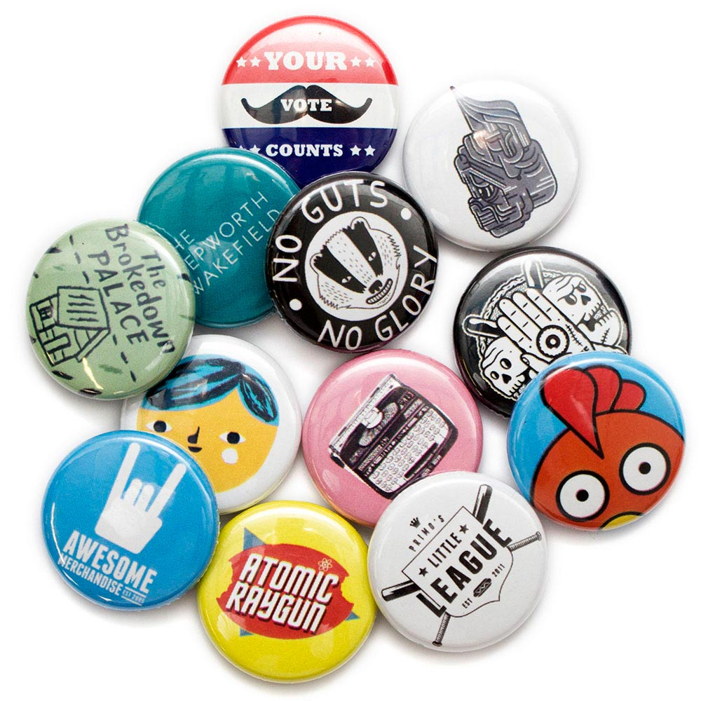 Button Badge Design 25mm badges awesome merchandise