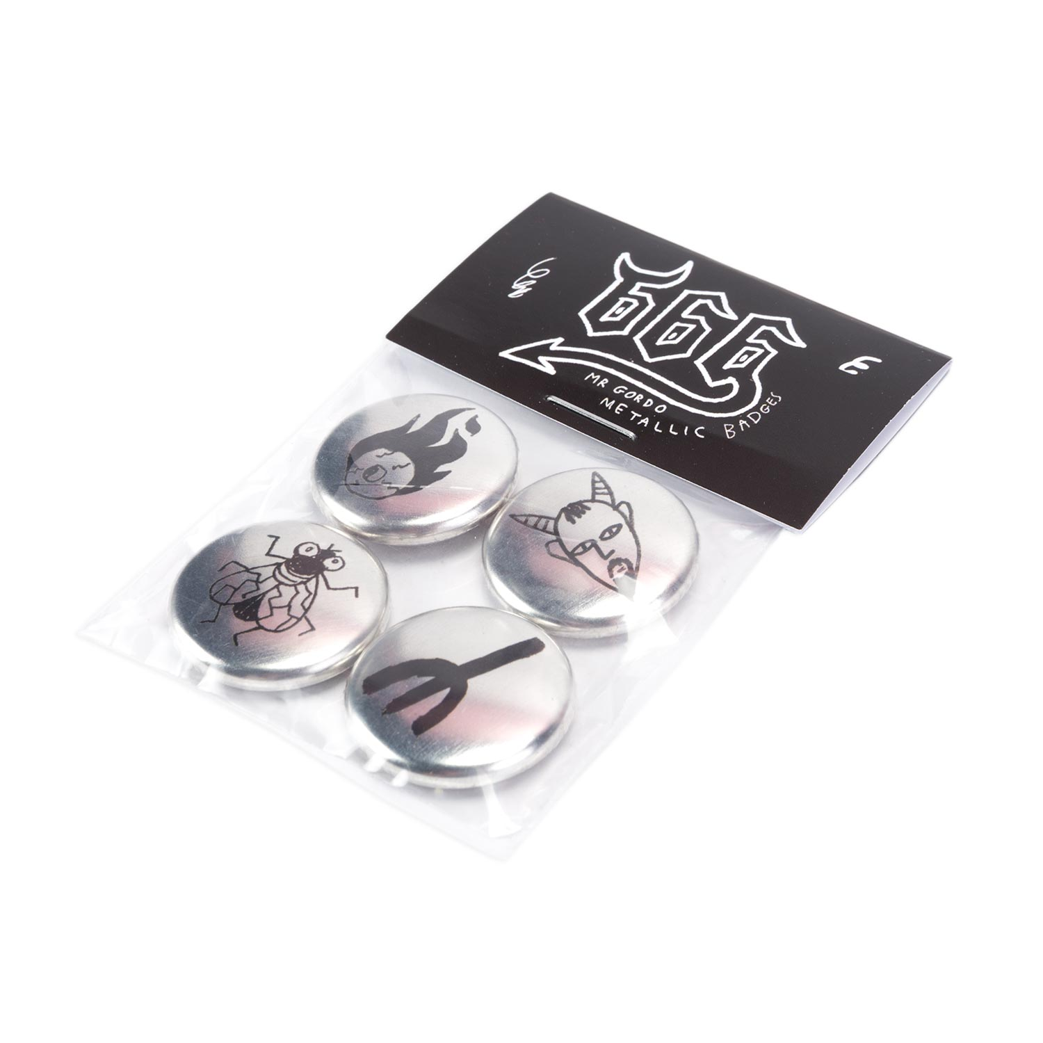 25mm Metallic Badge Packs
