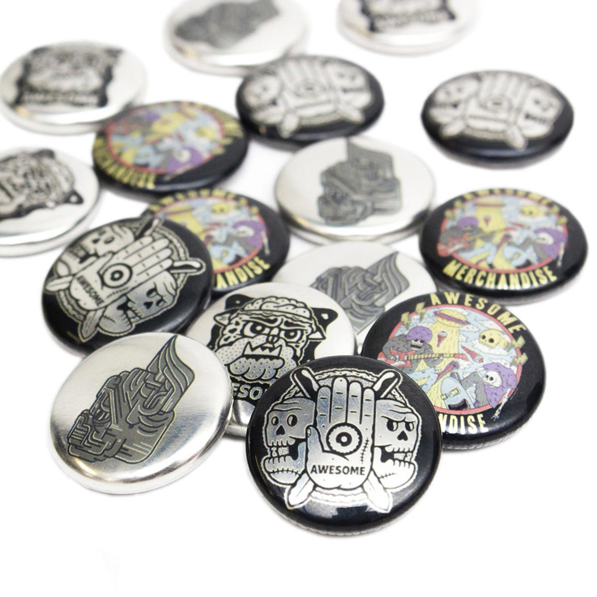 25mm Metallic Badges