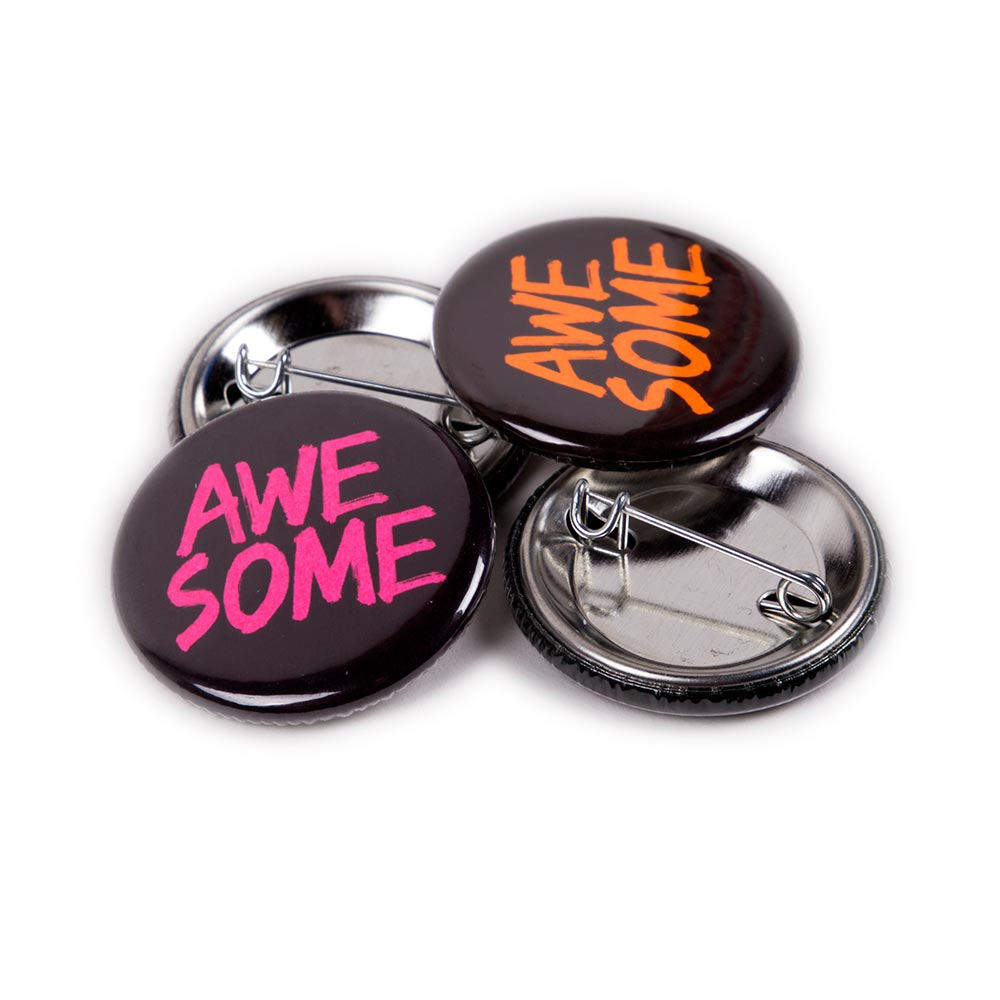 32mm Neon Badges