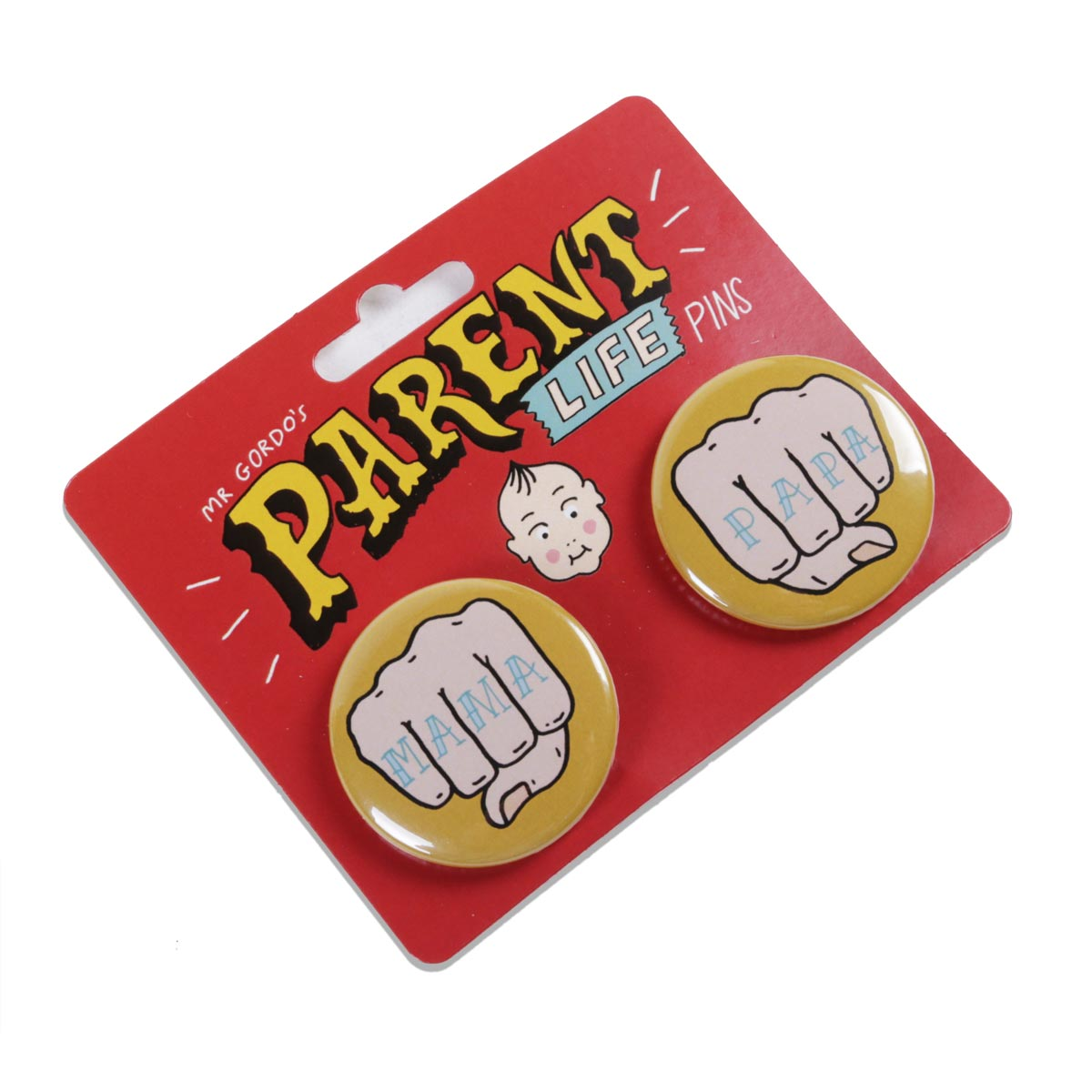 Two x 38mm Badge Packs