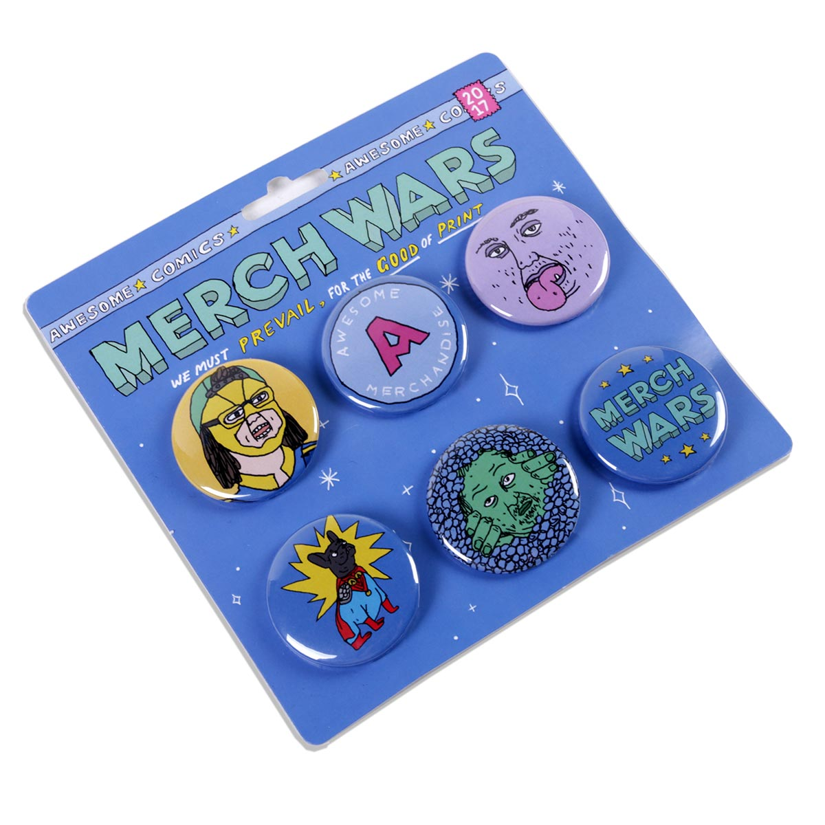 Six x 38mm Badge Packs