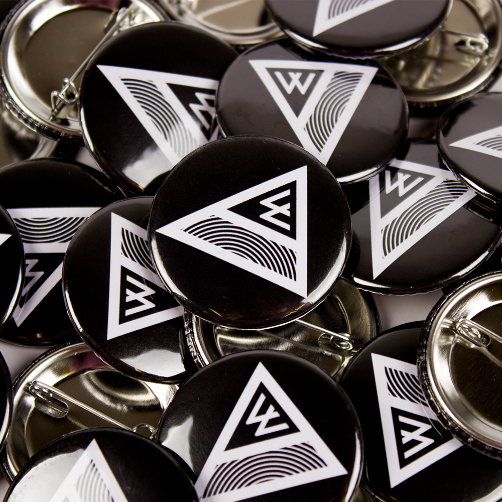 38mm Badges Custom Print Awesome Merchandise