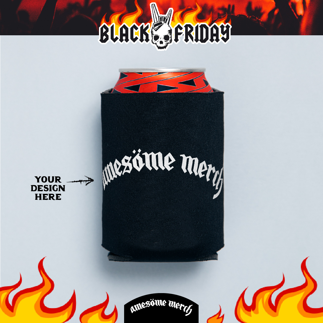 50 x Screen Printed Black Koozies for £79