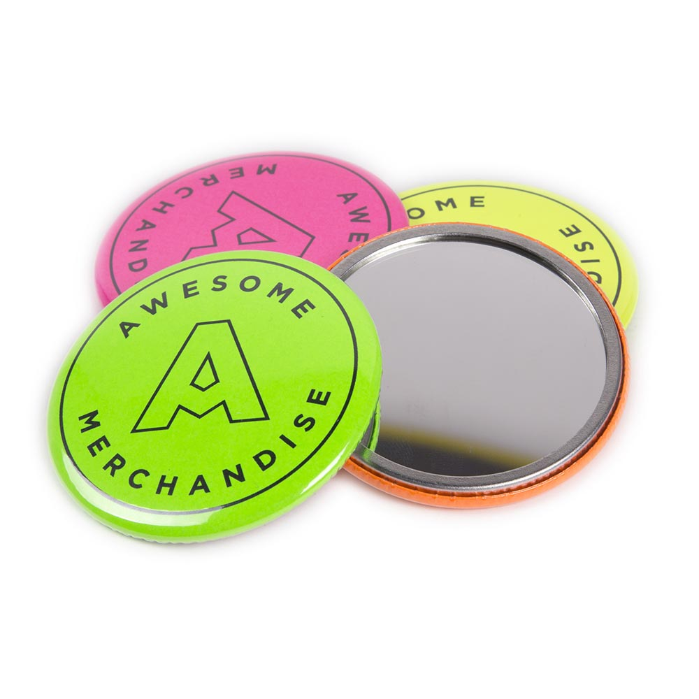 76mm Neon Pocket Mirrors