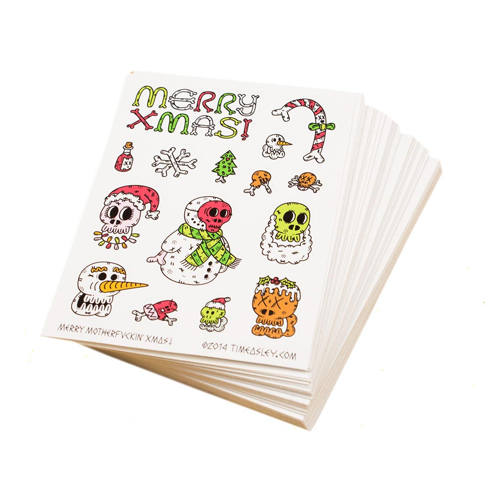 Custom Printed A6 Vinyl Sticker Sheets Awesome Merchandise