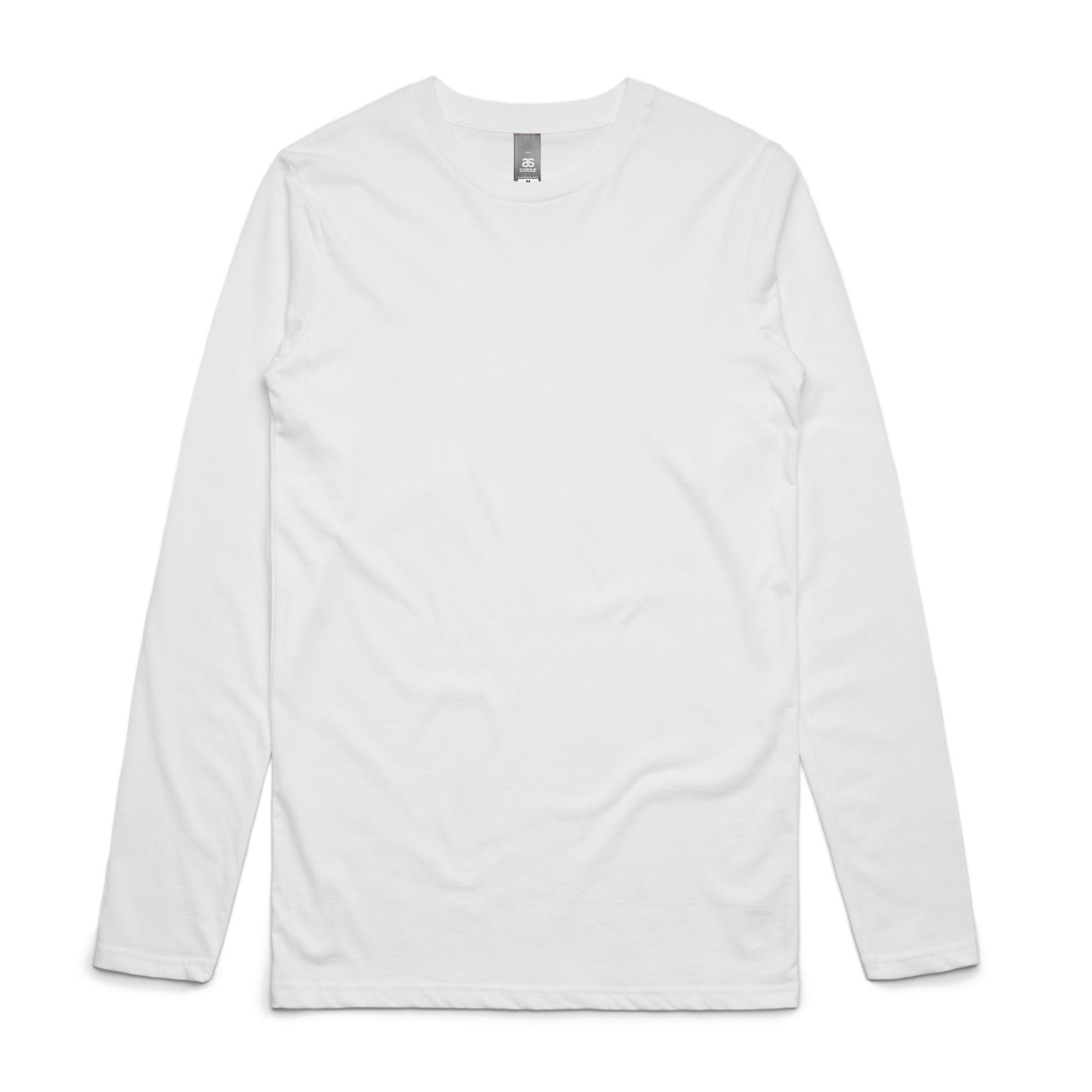 6adc52a5 Custom Printed AS Colour Ink Longsleeve T-Shirts - Awesome Merchandise