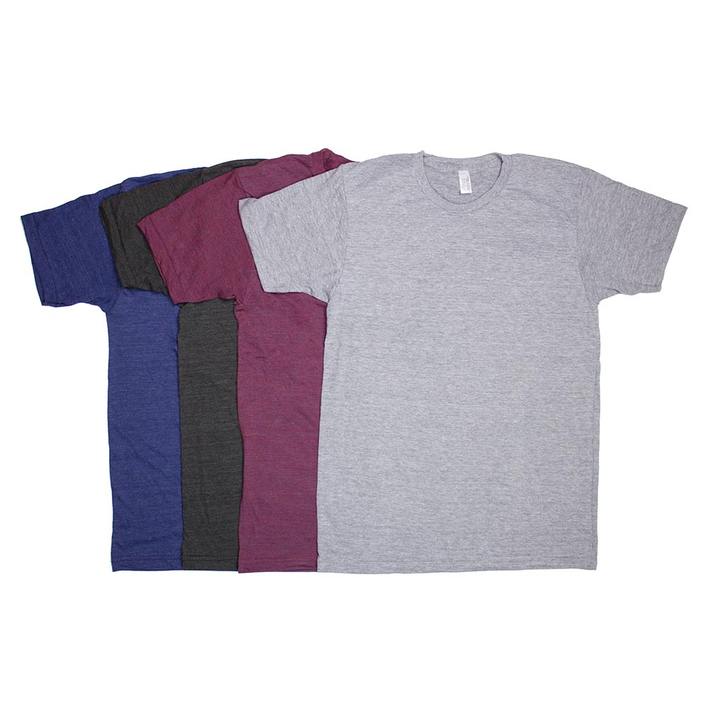 ed04fb6a Custom Printed American Apparel Tri-Blend Track T-Shirts - Awesome  Merchandise