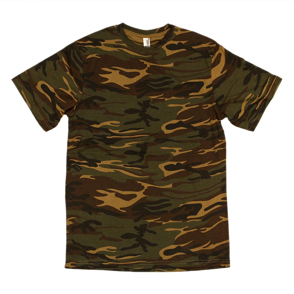 Custom printed anvil heavy camo t shirts awesome merchandise for Camouflage t shirt printing