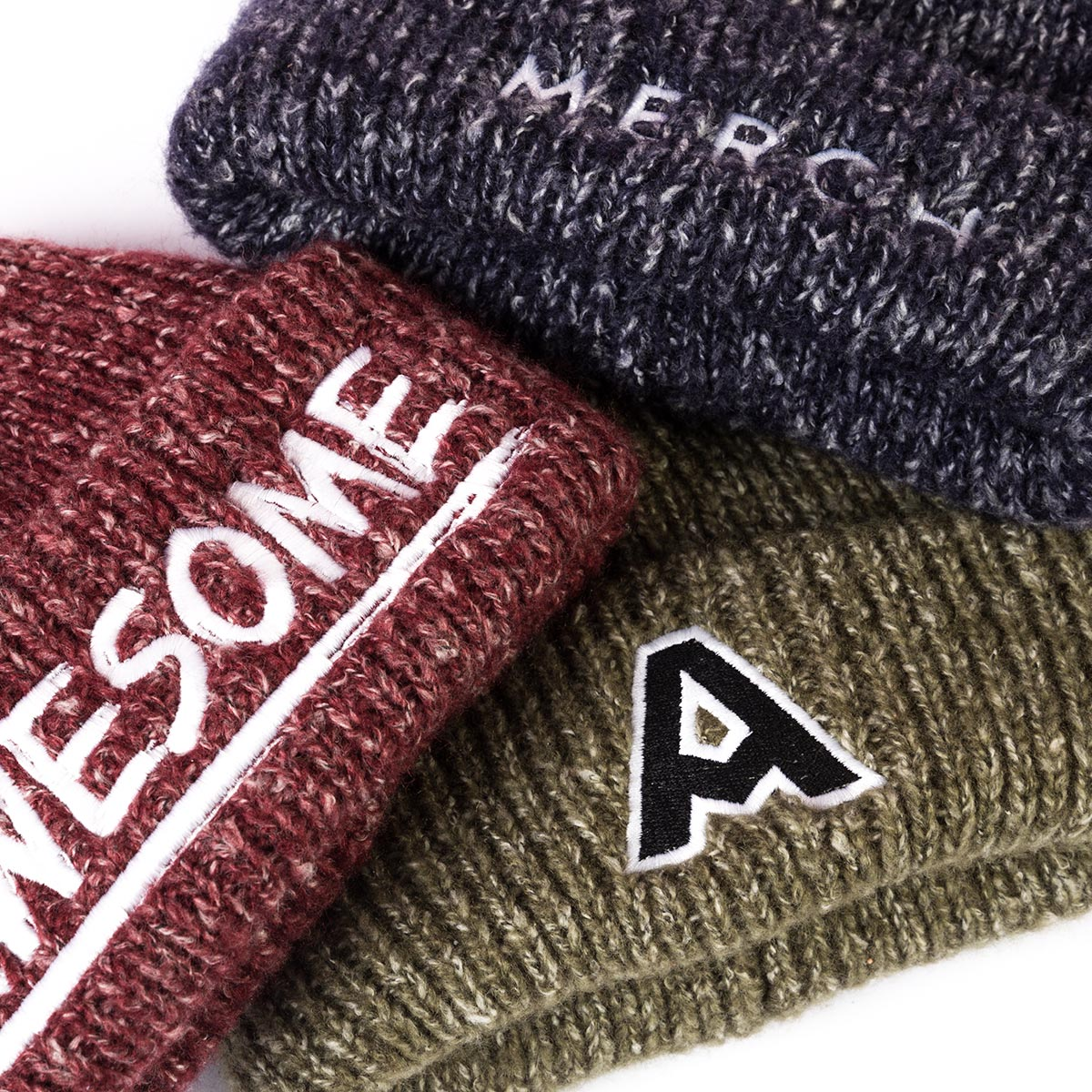 10x Embroidered Beechfield BEANIE HAT No set up fee Personalised Logo 18 Colours