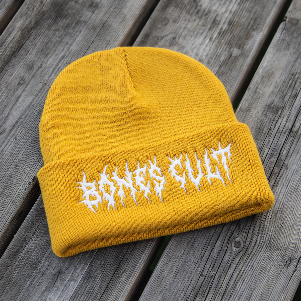 Custom Embroidered Beechfield Knitted Beanie Awesome