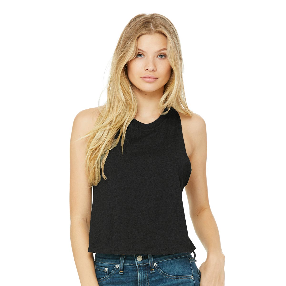 Bella + Canvas Ladies' Racerback Cropped Tanks
