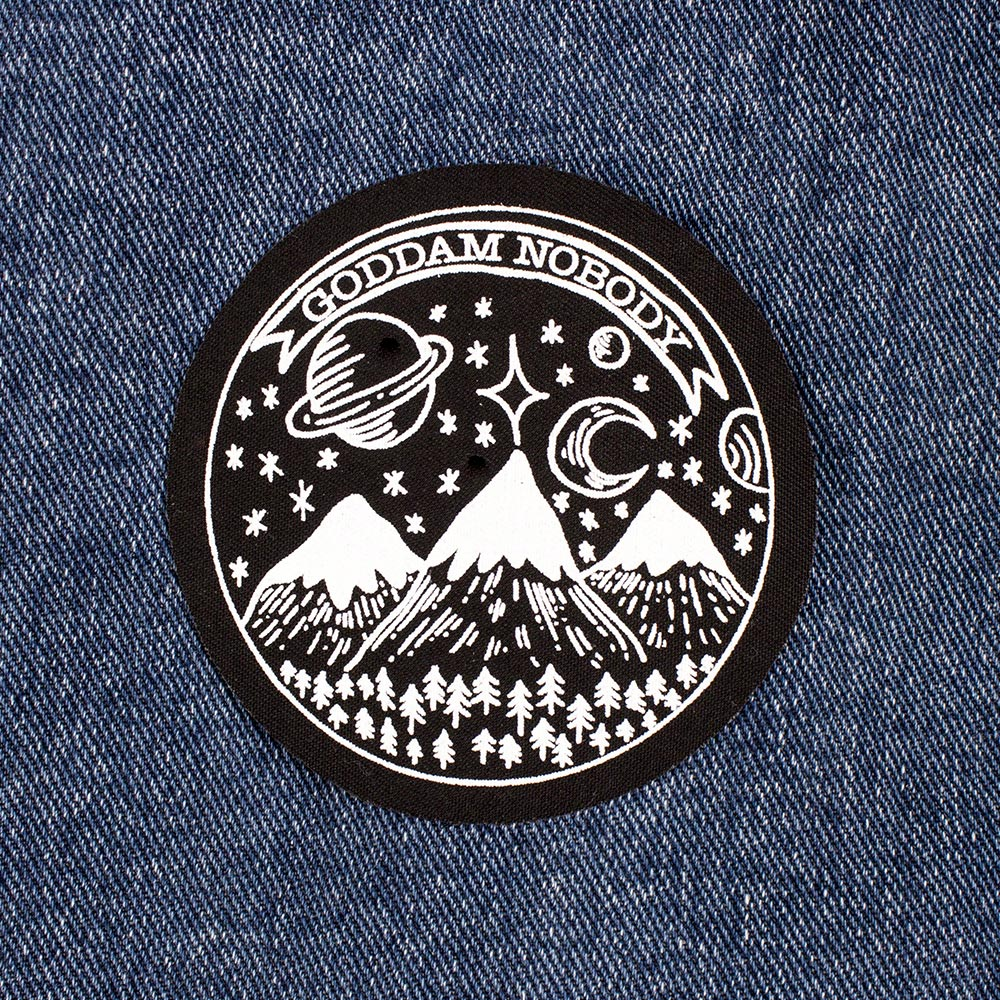 Attractive Circular Screen Printed Patch 8.7cm - Awesome Merchandise DC22