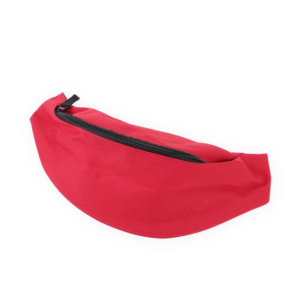 red belt bag by Bagbase, suitable for embroidery