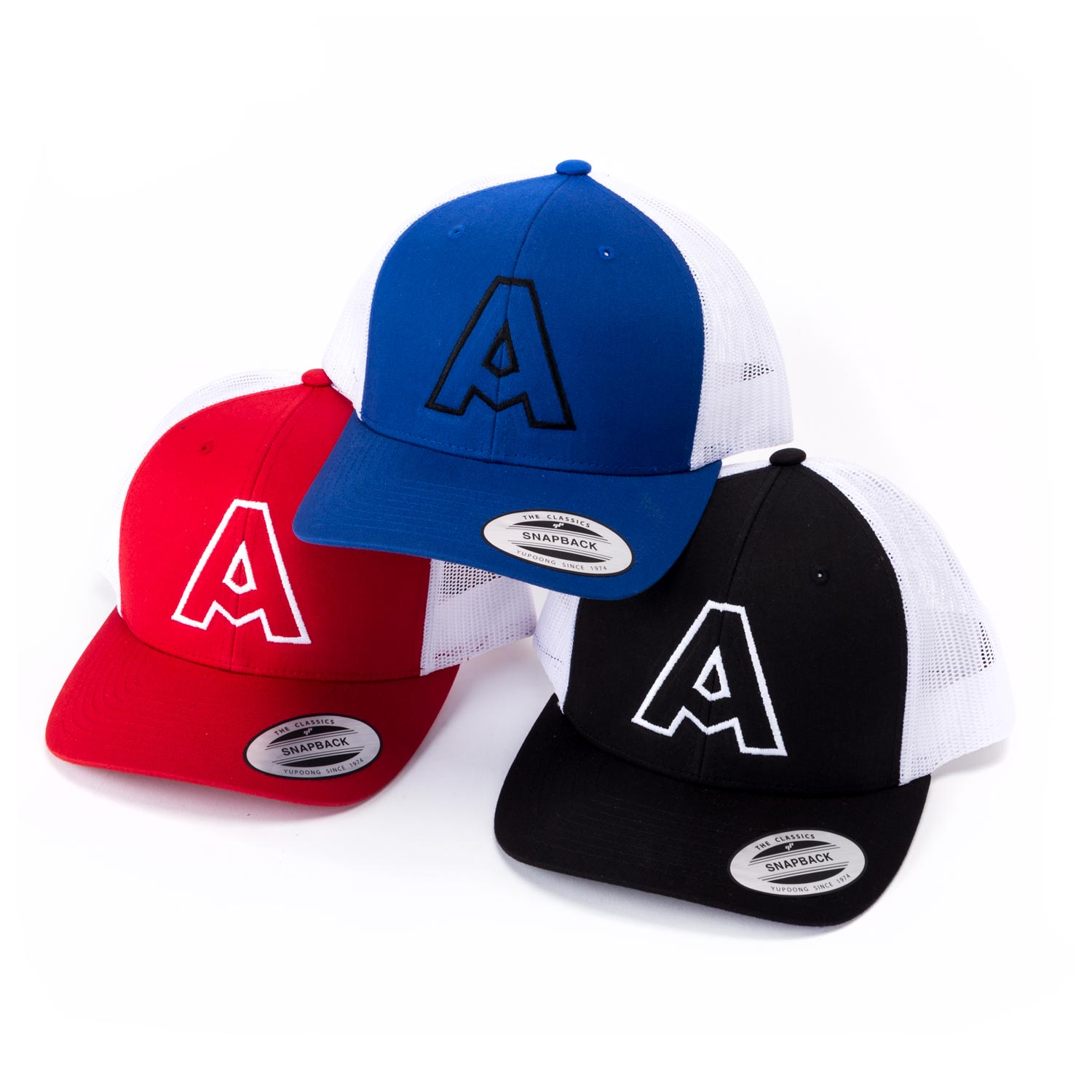 Embroidered Yupoong Snapback Trucker Caps