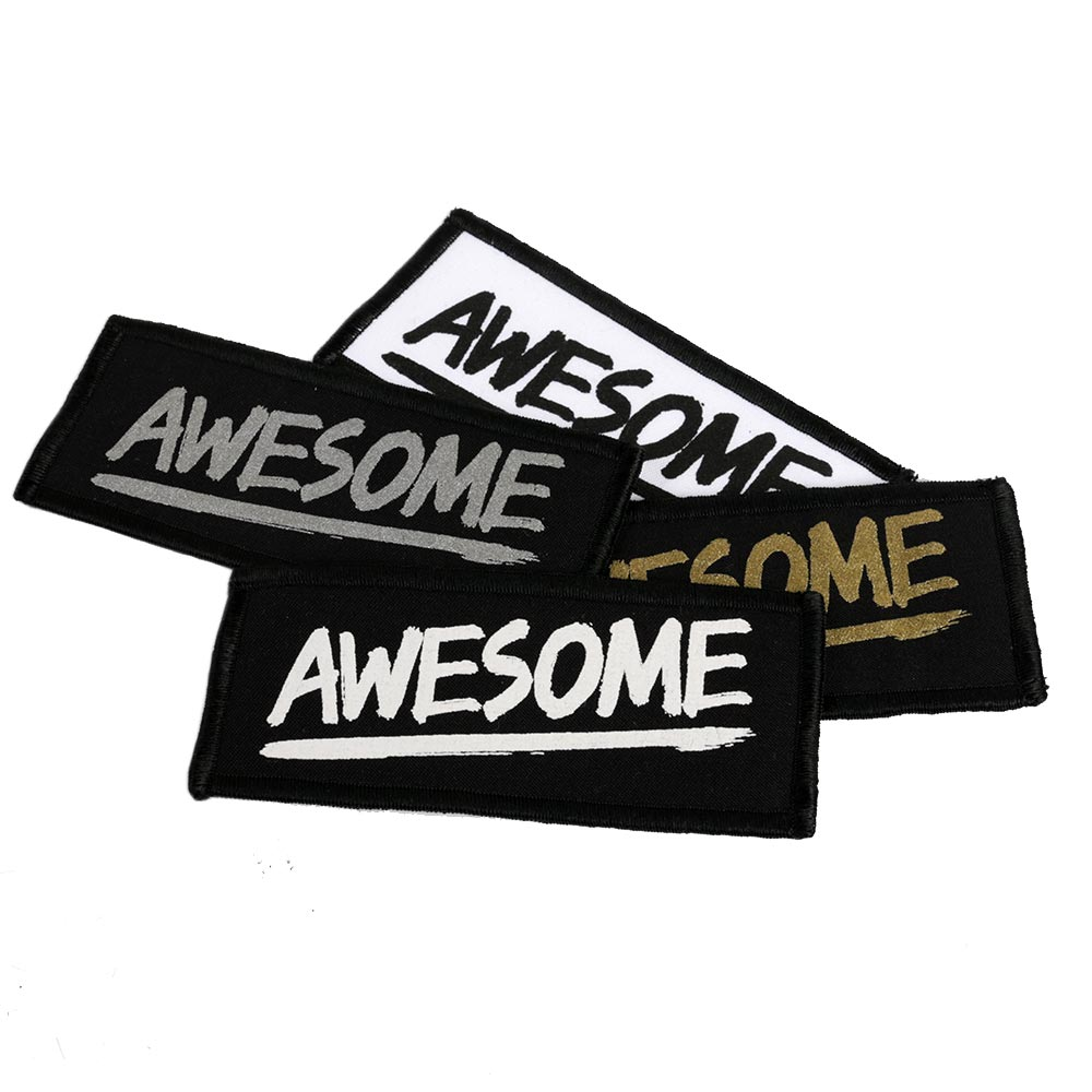 Premium Rectangular Screen Printed Patch 12x5cm
