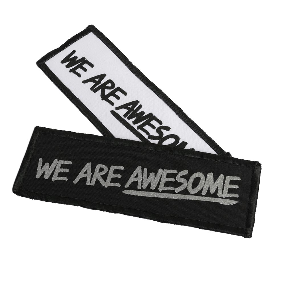 Premium Rectangular Screen Printed Patch 15x5cm