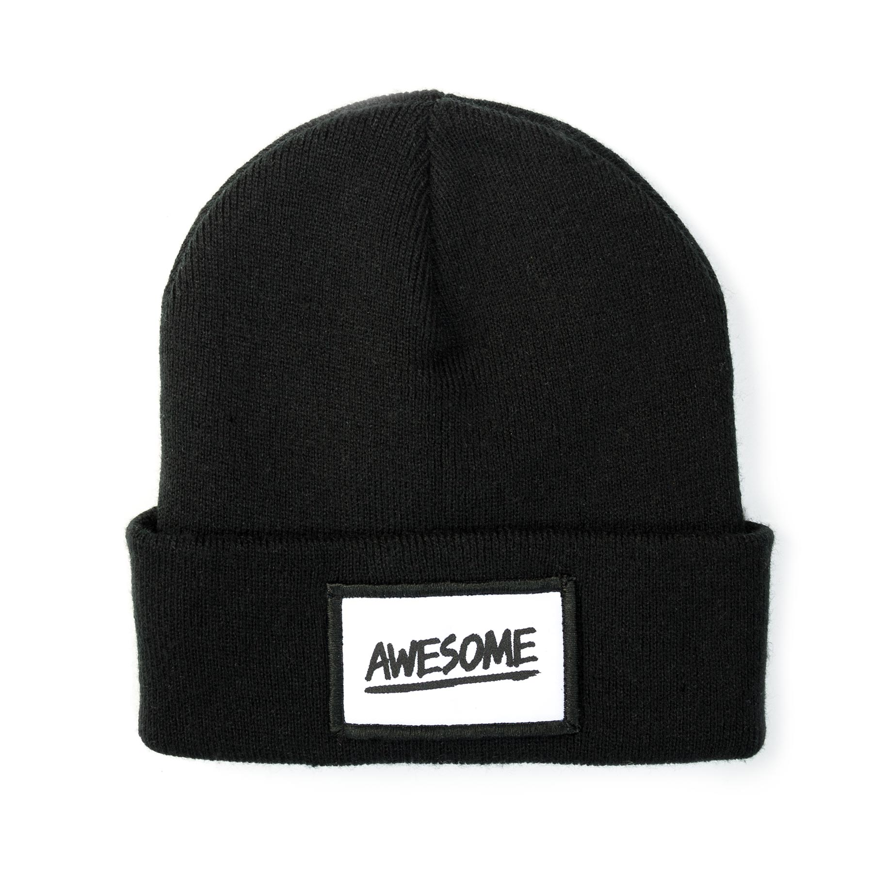 Screen Printed 5cm x 8cm Patch Beanies