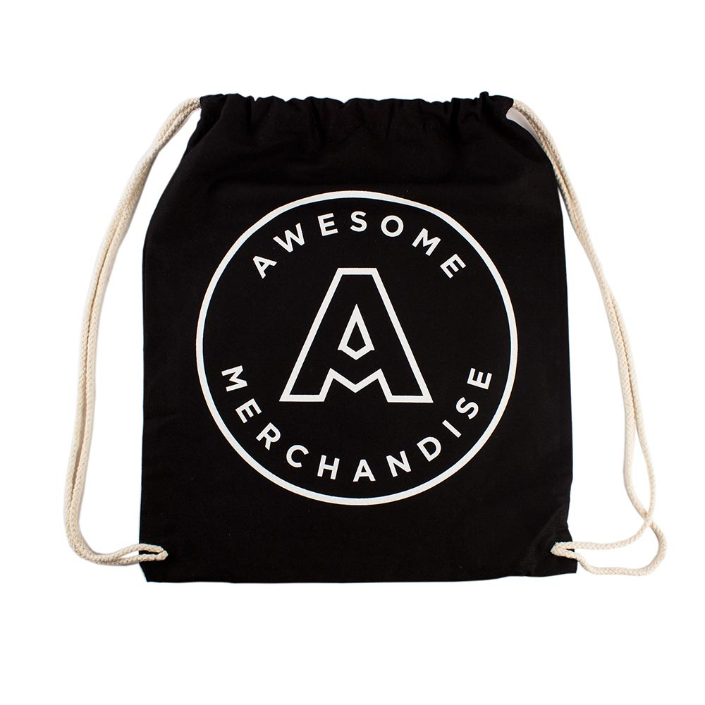 Screen Printed Drawstring Tote Bags | Custom Print - Awesome ...