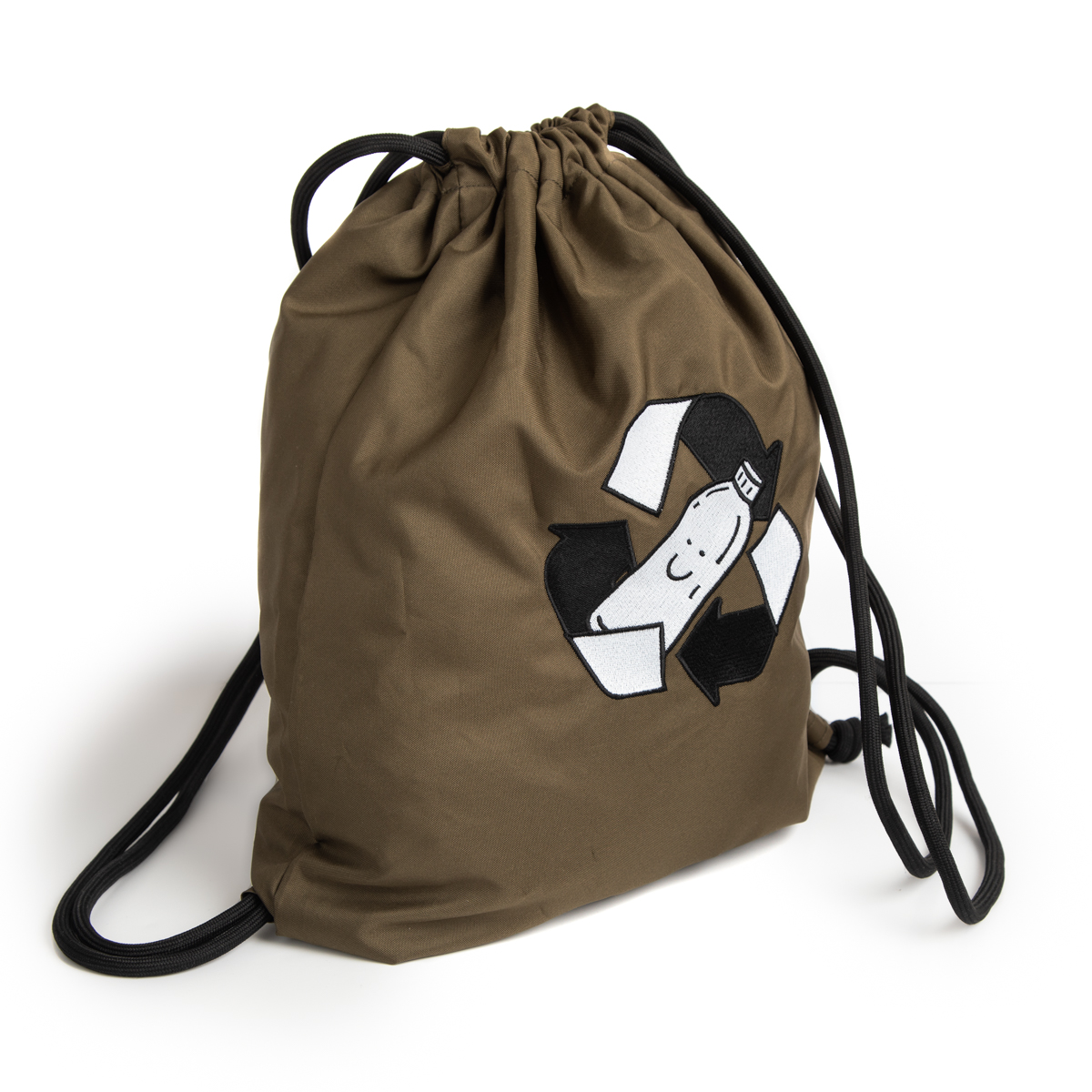 Embroidered Recycled Drawstring Bags