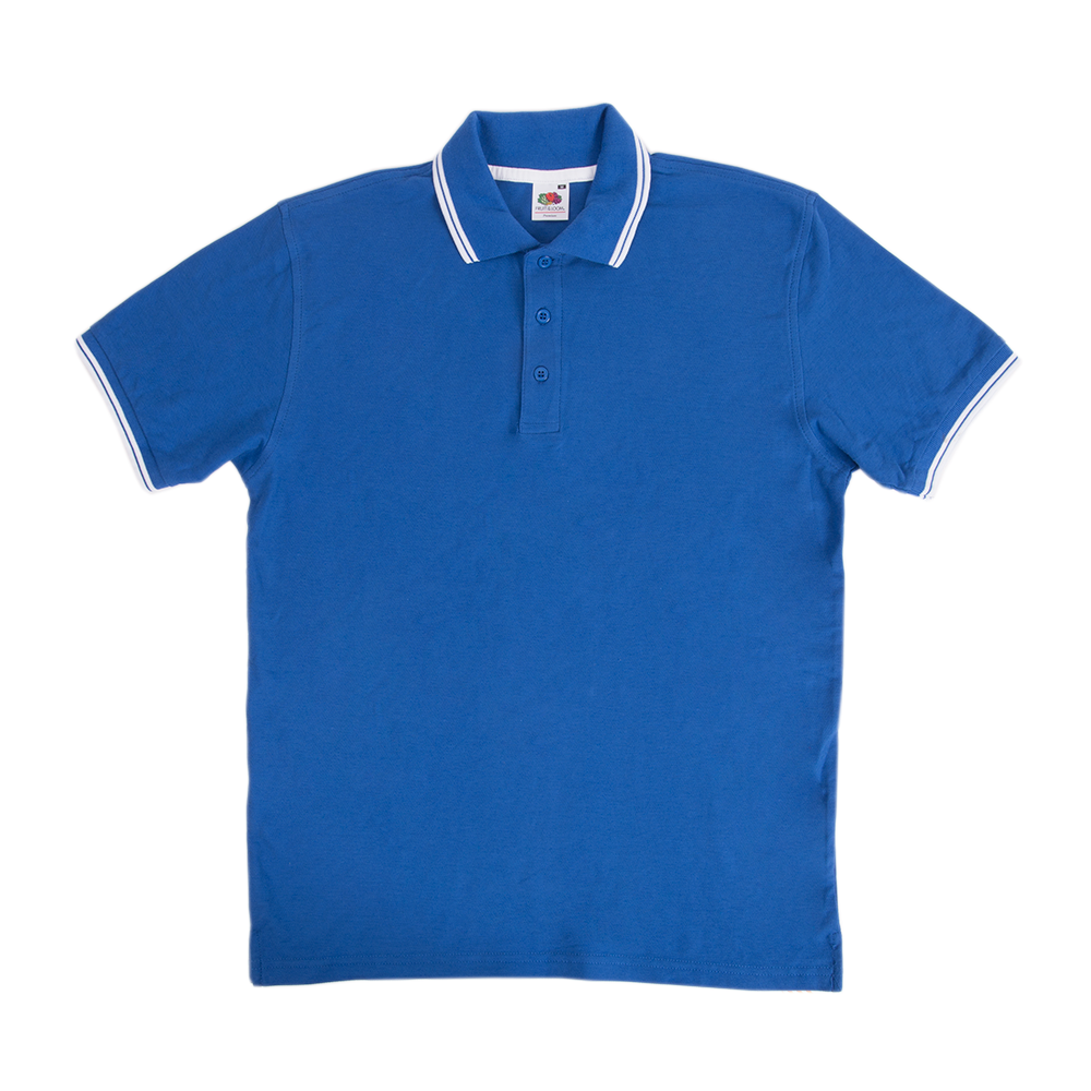 e8482fa0845 Fruit Of The Loom Tipped Polo Shirts - Awesome Merchandise