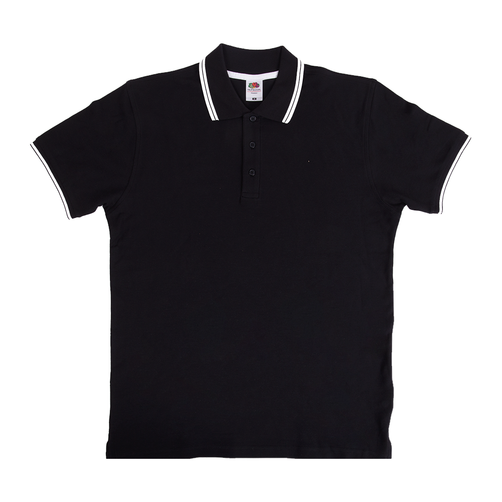 fruit of the loom tipped polo shirts awesome merchandise. Black Bedroom Furniture Sets. Home Design Ideas