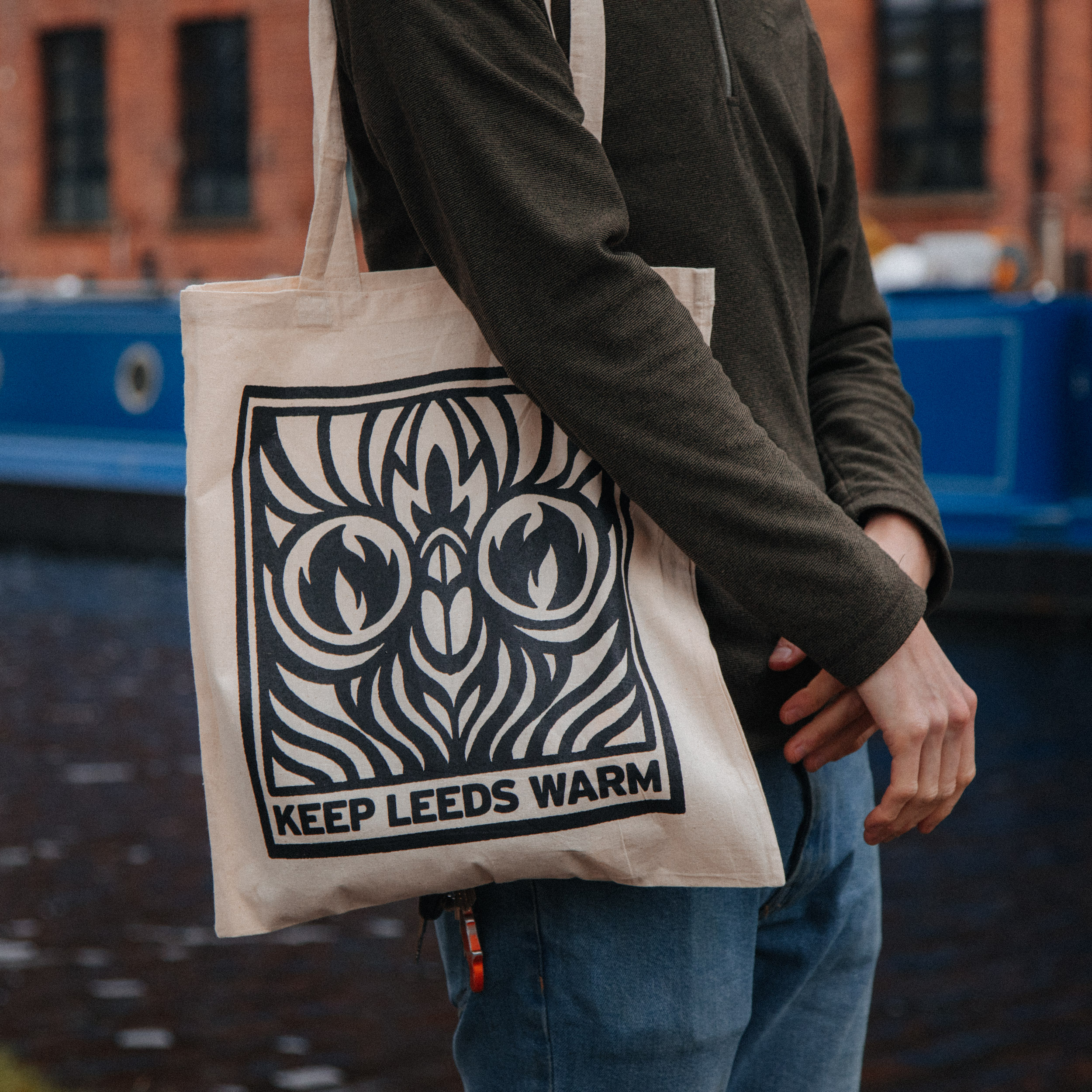1000 x Natural Screen Printed Tote Bags - £1.50 each