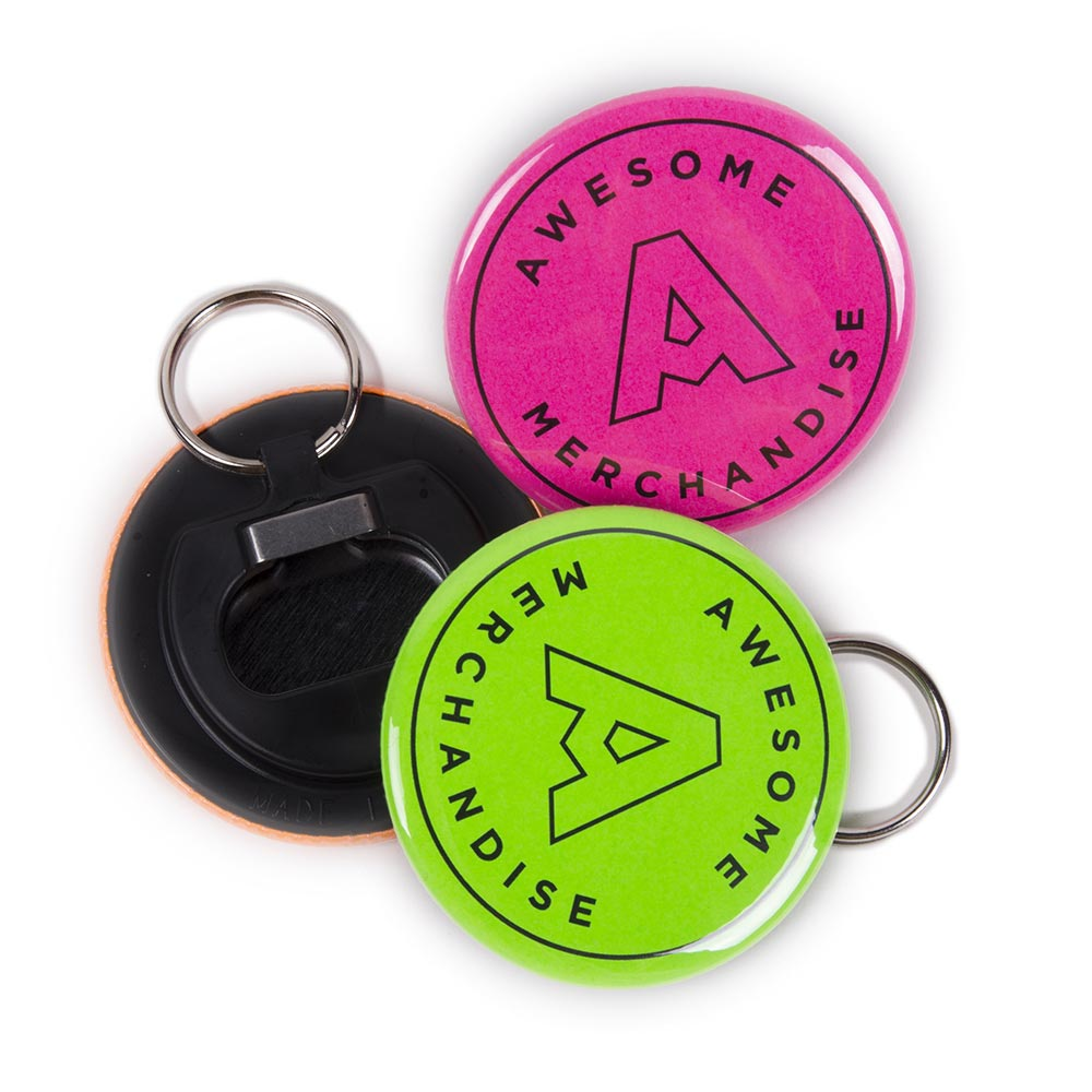 Neon Bottle Opener Keyrings
