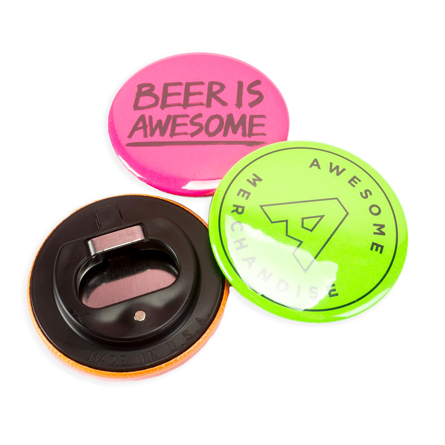 Neon Bottle Opener Magnets