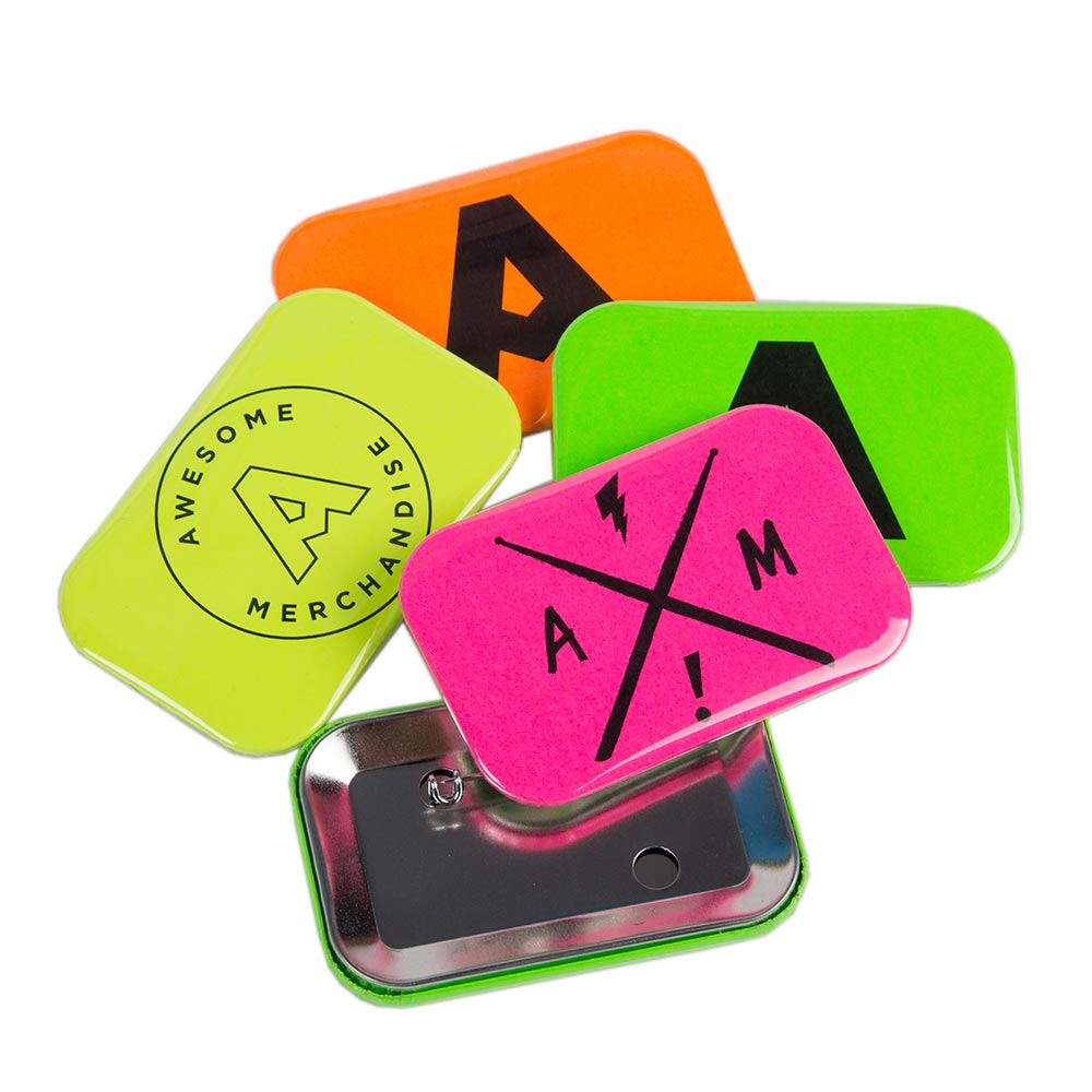 Neon Rectangular Badges