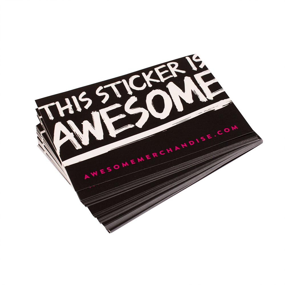Rectangular 10cm x 7cm Paper Stickers