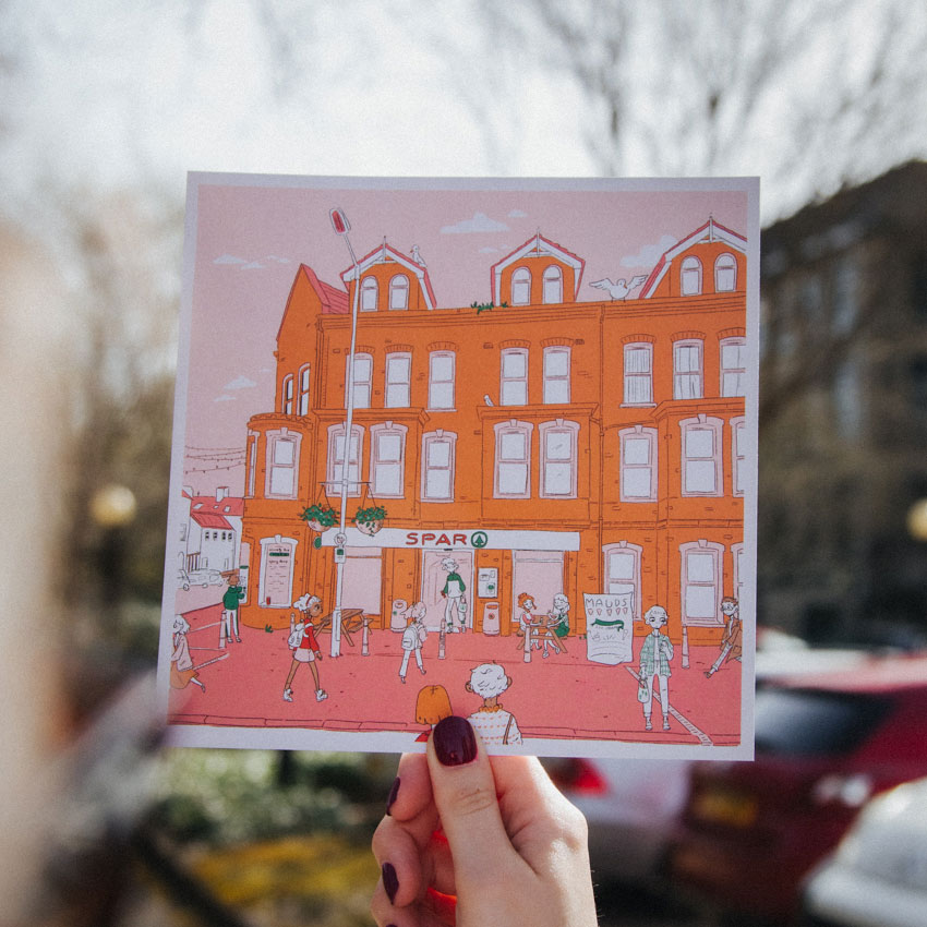 Recycled Square Postcards