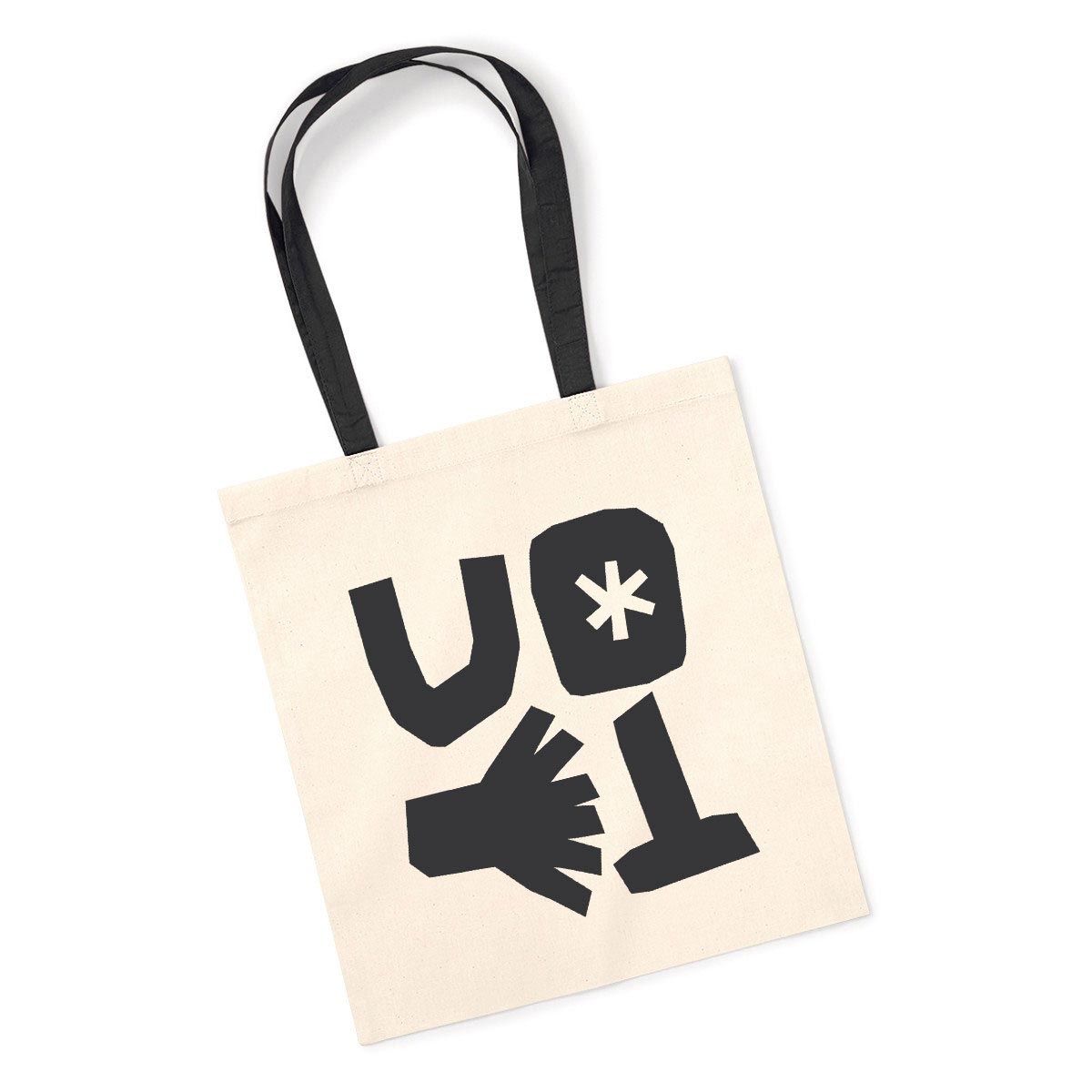 Screen Printed Contrast Handle Tote Bags