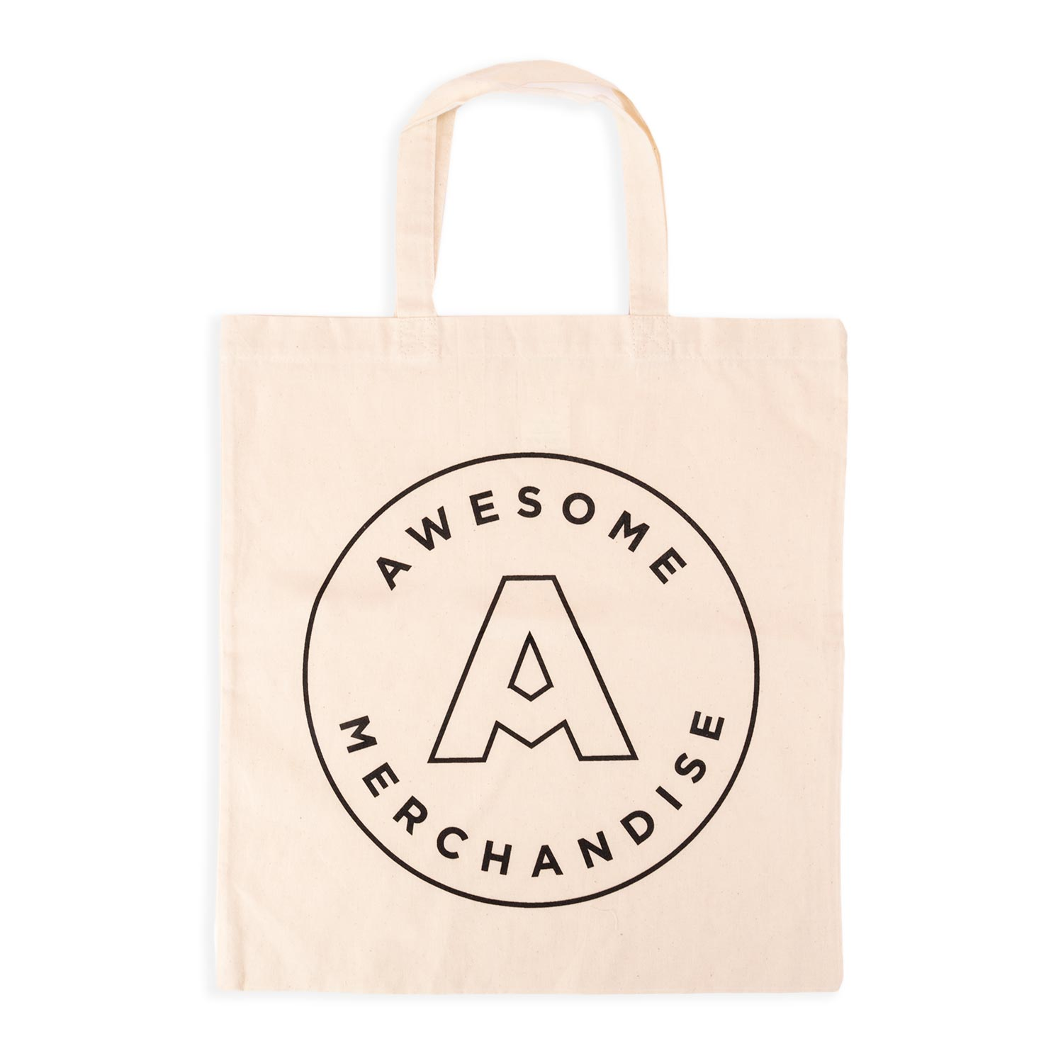 Screen Printed Short Handle Tote Bags