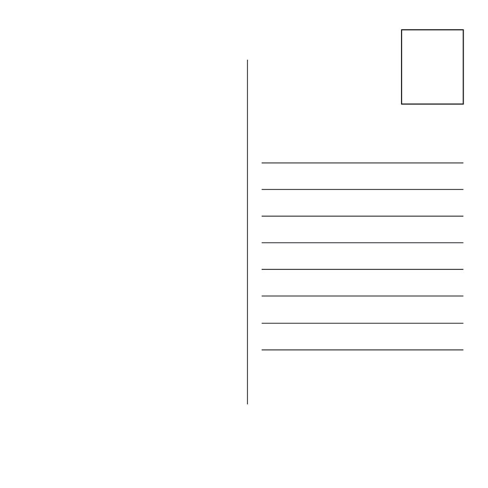 Square Postcards Awesome Merchandise – Postcard Format Template
