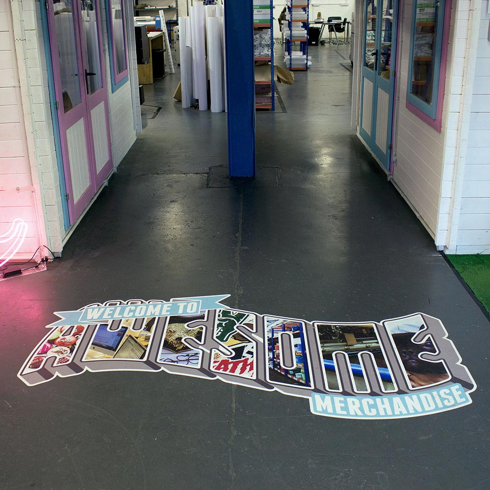 Custom printed vinyl floor stickers awesome merchandise for Floor stickers