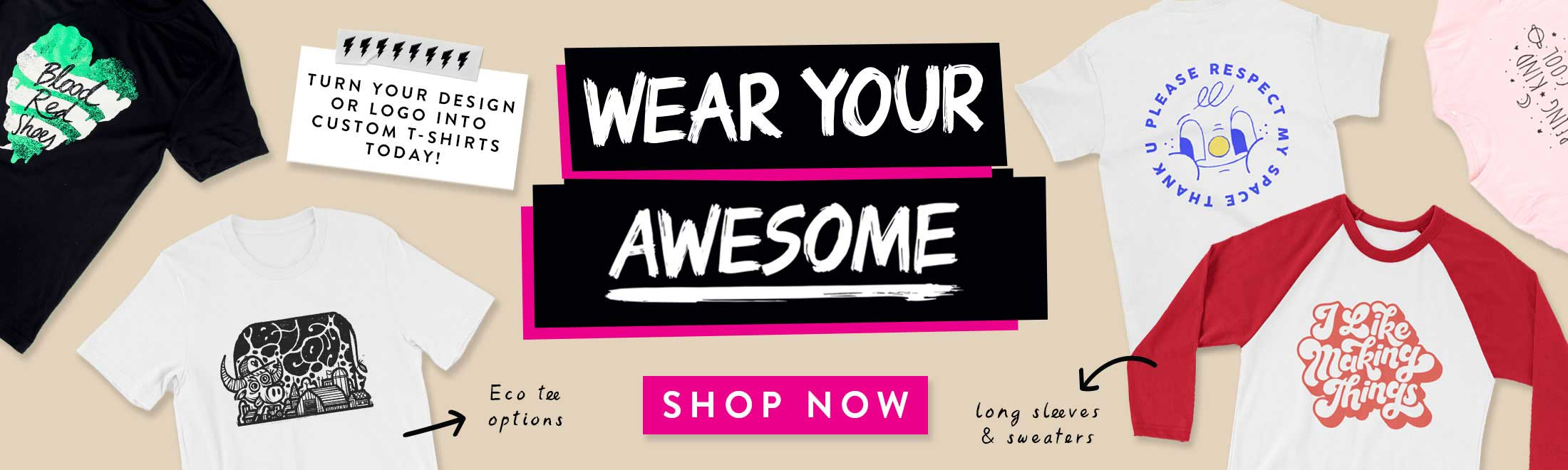 Awesome stickers banner 600 products main slider awesome t shirts banner